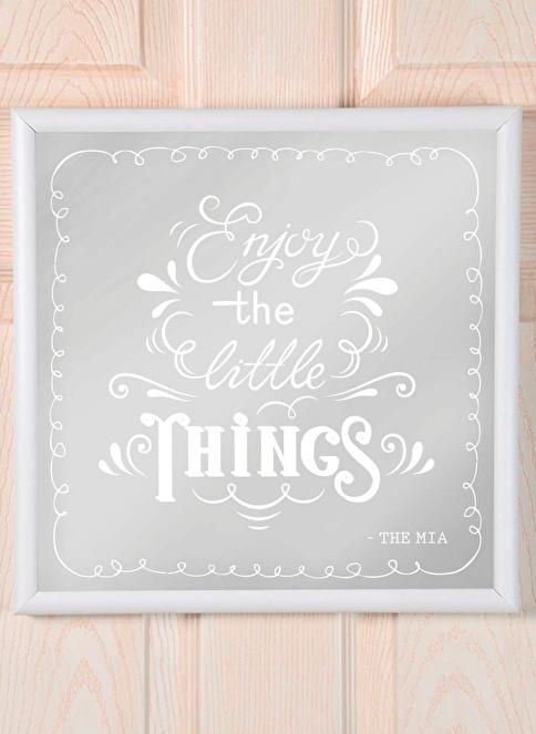 The Mia Dekoratif Ayna Things 68 * 68 Cm Beyaz